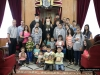 His Beatitude with youth from St Nikolas, Beit-Jala