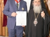 His Beatitude with the newly decorated Mr Tsiaras