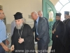 His Beatitude and retinue offer condolences to the families of the two murdered youth