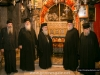 His Beatitude and the Committee inspecting the area on the day after the fire