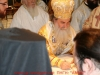 The Patriarch of Jerusalem signs for the consecration