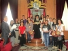 His Beatitude with Mr Djersassi and the students