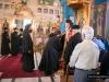 His Beatitude and retinue at the Monastery of the Prophet Elisha
