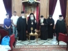 His Beatitude, the Metropolitan of Hierapytna, and f. Anastasios offering liturgical vessels