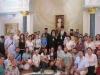 His Beatitude with pilgrims led by the Metropolitan of Mesogaia