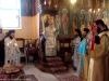 Metropolitan Isychios and retinue break bread