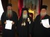 His Beatitude, the Metropolitan of Florina and Archimandrite Justinus