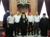 His Beatitude with teachers and relatives of Mr Belbess