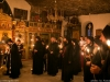 The funeral service at St Nikolas chapel