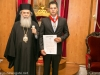 The decorated Mr Makris with His Beatitude