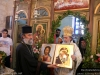 His Beatitude with the head priest, f. Gregorios