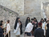 Welcoming the Primates in the forecourt of the Monastery of Gethsemane