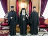 His Beatitude with Panayiotis Bouzas and Stavros Doukas