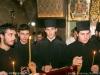 Monk Photios' students chanting at his memorial service