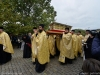 A procession carrying the holy relics from the Patriarchate of Romania