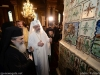 Patriarch Daniel shows Patriarch Theophilos around the church