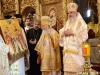 The Patriarch of Romania offers an icon featuring the Family of St Constantine