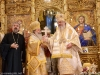 The Patriarch of Jerusalem offers Patriarch Daniel a mother-of-pearl cross