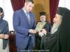 His Beatitude offers Mr Klychko an icon of Theotokos