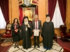 His Beatitude, Mr and Mrs Solomou and the Metropolitan of Bostroi