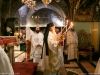 Metropolitan Kyriakos of Nazareth performs the divine Liturgy at Golgotha