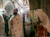 Father Sergios during the divine Liturgy