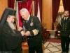 H.B. and Mr Apostolakis exchange gifts