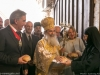 The Patriarch and the Consul-General offered consecrated bread by nun Seraphima