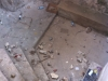 The desecrated steps and floor