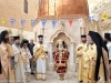 His Beatitude at the entrance to the tomb of St Savvas