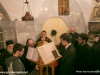 The choir singing on the feast day of St Spyridon