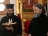 Novice Athanasios with f. Porfyrios