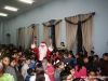 Students and Santa Claus