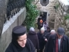 Pilgrims coming out of the Cave of St Stephen