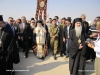 His Beatitude and Archimandrite Chrysostomos with local officials