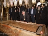 The Archbishop of Cyprus venerates at the Holy Apokathelosis