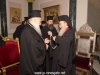 H.B. offers the Metropolitan of Veria an engolpion and a cross