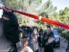 Police blocks off crime scene