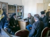 His Beatitude converses with a Foreign Ministry representative