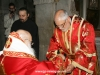 The newly-ordained with the Metropolitan of Nazareth