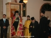 His Beatitude and retinue at the end of the Service