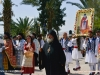 Hegoumen Chrysostomos leads the procession