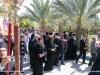 Pious pilgrims follow the procession