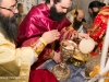 The newly ordained during the Divine Liturgy