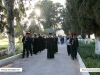 The procession arrives at the Monastery of the Men of Galilee