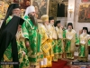 His Beatitude at the Holy Bema with co-officiating Hagiotaphite Primates