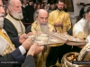 His Beatitude and Hagiotaphite Fathers during the sacrament of Holy Unction