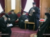 The Metropolitan of Tamassos offers the Patriarch an icon of Theotokos