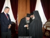 The Patriarch offers an engolpiyon to the Metropolitan of Rethymnon