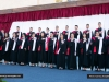 Graduates perform the Palestinian National Anthem